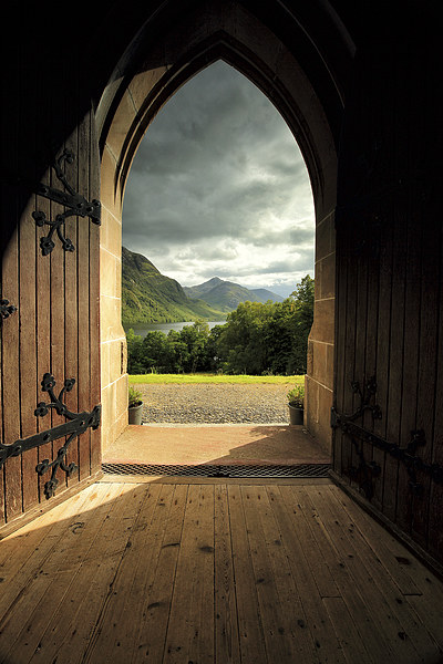 Through the arched door Canvas Print by Scottish Landscape and Wildlife Canvas Print