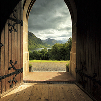 Buy canvas prints of  Through the arched door by Scottish Landscape and Wildlife Canvas Print