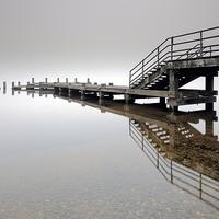 Buy canvas prints of   Tarbet Pier Loch Lomond by Scottish Landscape and Wildlife Canvas Print