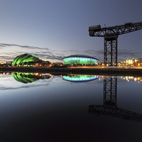 Buy canvas prints of  Glasgow River Clyde Waterfront by Scottish Landscape and Wildlife Canvas Print