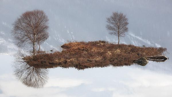 Cluanie island  Canvas Print by Scottish Landscape and Wildlife Canvas Print