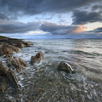 Buy canvas prints of Ronachan Sunset by Scottish Landscape and Wildlife Canvas Print