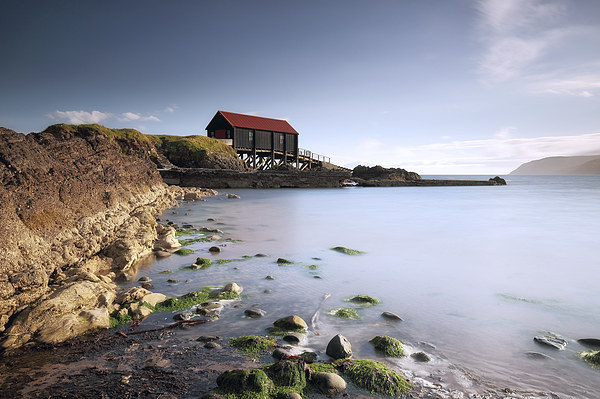 Kintyre Boathouse Canvas Print by Scottish Landscape and Wildlife Canvas Print