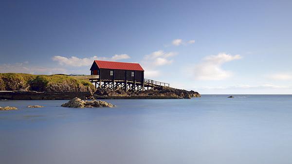 Dunaverty Bay Boathouse Canvas Print by Scottish Landscape and Wildlife Canvas Print