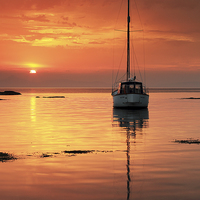 Buy canvas prints of  Sunset by Scottish Landscape and Wildlife Canvas Print