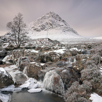 Buy canvas prints of  Glencoe Winter Morning by Grant Glendinning