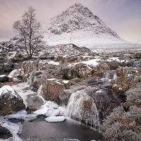 Buy canvas prints of  Glencoe Winter Landscape by Grant Glendinning