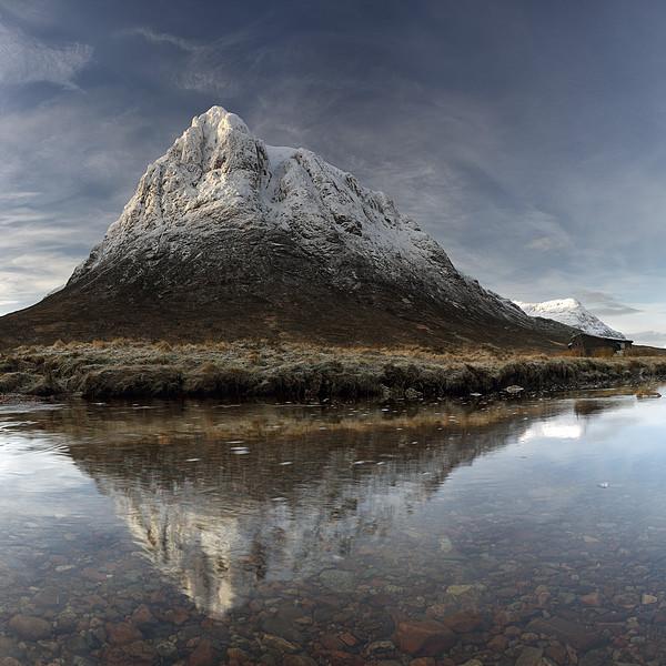 Mountain Reflection Glencoe Canvas Print by Grant Glendinning