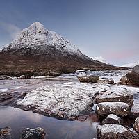 Buy canvas prints of Glencoe Mountain Sunrise by Grant Glendinning