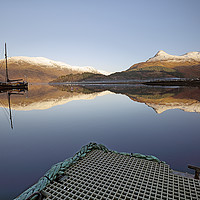 Buy canvas prints of Loch Leven Reflection by Grant Glendinning