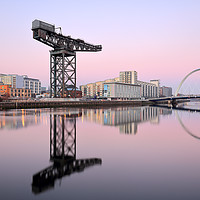 Buy canvas prints of Clyde Sunset Hues by Grant Glendinning