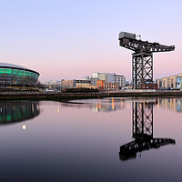 Buy canvas prints of River Clyde Sunset Hues by Grant Glendinning