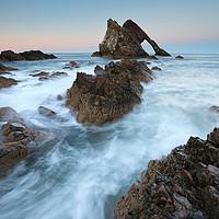 Buy canvas prints of Port Knockie Sunset by Grant Glendinning