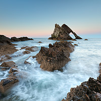 Buy canvas prints of Sunset at Bow Fiddle Rock by Grant Glendinning