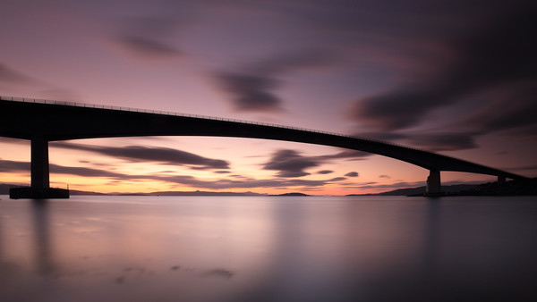 Skye Bridge After Sunset Canvas Print by Grant Glendinning