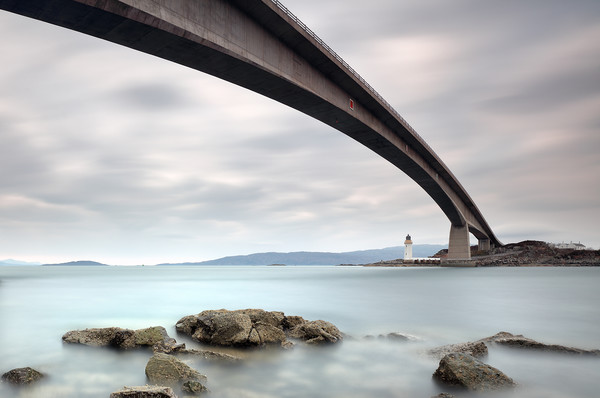 Road Bridge Rocks Canvas Print by Grant Glendinning