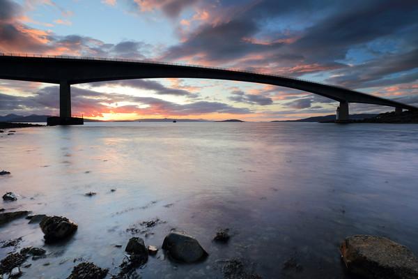 Isle of Skye Bridge Sunset Canvas Print by Grant Glendinning