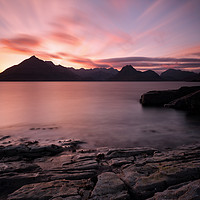 Buy canvas prints of Elgol Colourful Sunset by Grant Glendinning