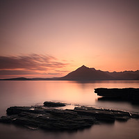 Buy canvas prints of Elgol Sunset Afterglow by Grant Glendinning