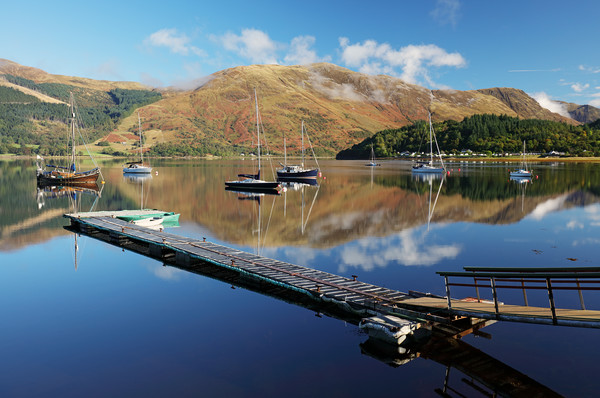 Loch Leven  Jetty and Boats Canvas Print by Grant Glendinning