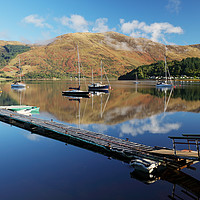 Buy canvas prints of Loch Leven  Jetty and Boats by Grant Glendinning