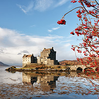 Buy canvas prints of Eilean Donan - Loch Duich Reflection  by Grant Glendinning