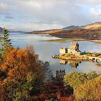 Buy canvas prints of Eilean Donan Reflection in Autumn by Grant Glendinning