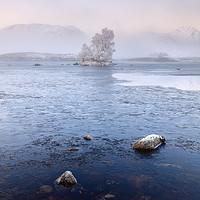 Buy canvas prints of Glencoe Misty Winter Sunrise by Grant Glendinning