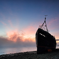Buy canvas prints of Loch Linnhe Misty Shipwreck by Grant Glendinning