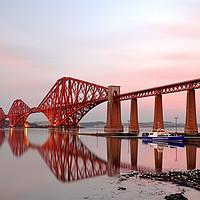 Buy canvas prints of Forth Railway Bridge Sunset by Grant Glendinning