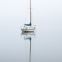 Buy canvas prints of Misty boat by Grant Glendinning