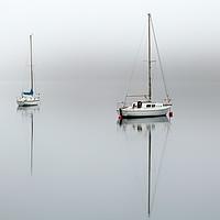 Buy canvas prints of Misty boats by Grant Glendinning