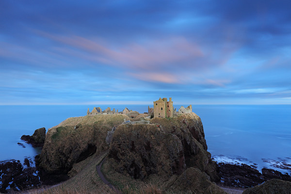Dunnottar Castle Twilight Canvas Print by Grant Glendinning