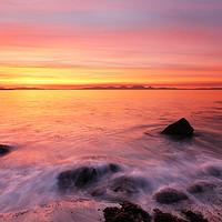 Buy canvas prints of Kintyre Rocky Coast Sunset  by Grant Glendinning