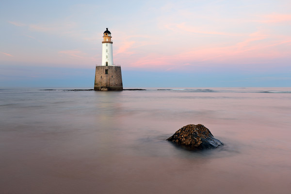 Sunset at Rattray Head Lighthouse Canvas Print by Grant Glendinning