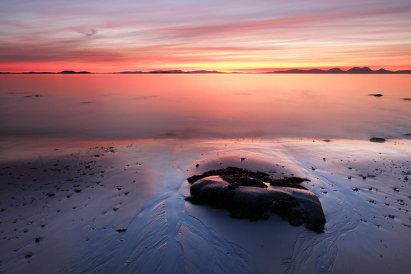 Kintyre Coastal Sunset Canvas Print by Grant Glendinning