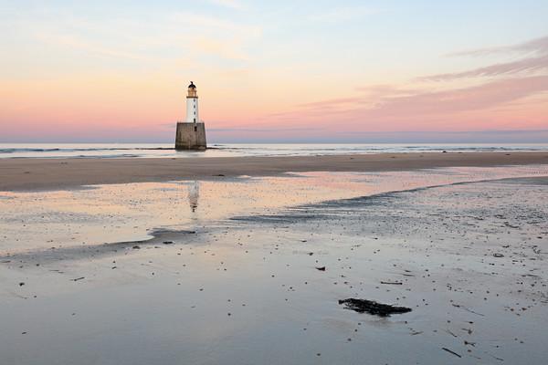 Lighthouse Sunset - Rattray Head Canvas Print by Grant Glendinning
