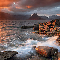 Buy canvas prints of Elgol Stormy Sunset by Grant Glendinning