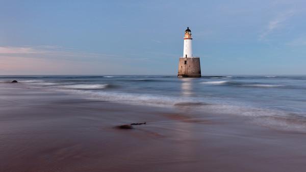 Rattray Head Lighthouse Evening Canvas Print by Grant Glendinning