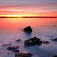 Buy canvas prints of Coastal Sunset Kintyre by Grant Glendinning