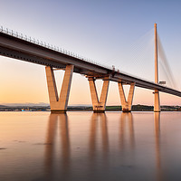 Buy canvas prints of Queensferry Crossing Sunset by Grant Glendinning