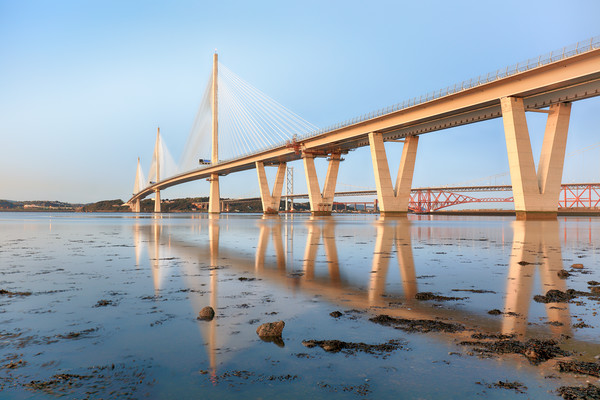 Queensferry Crossing  Canvas Print by Grant Glendinning