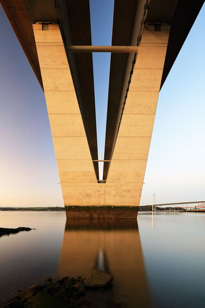 Under the Queensferry Crossing Bridge Canvas print by Grant Glendinning