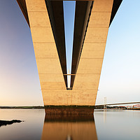 Buy canvas prints of Under the Queensferry Crossing Bridge by Grant Glendinning