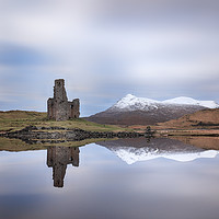 Buy canvas prints of Ardvreck Castle Reflection by Grant Glendinning