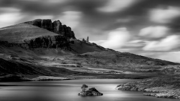 Loch Fada- The Storr Framed Mounted Print by Grant Glendinning