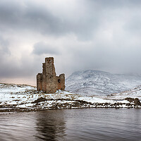 Buy canvas prints of Ardvreck Castle in Winter by Grant Glendinning