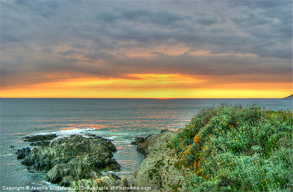 Sunset at Woolacombe Canvas Print by Joanne Crockford