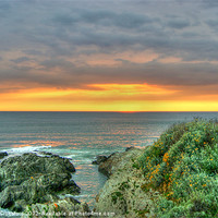 Buy canvas prints of Sunset at Woolacombe by Joanne Crockford