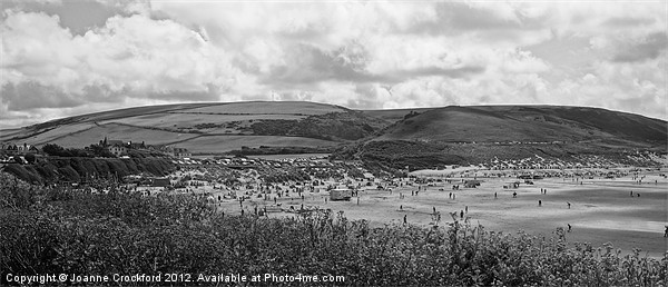 Woolacombe in mono Canvas Print by Joanne Crockford